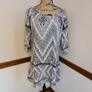 Halo Navy Blue and White Summer Dress
